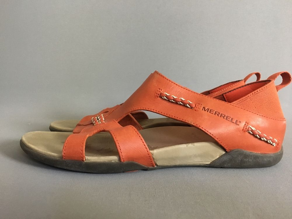 177938fdc50a Merrell Women s US 9 EU 40 Flaxen Leather Gladiator Sandals Shoes  Merrell   Gladiator