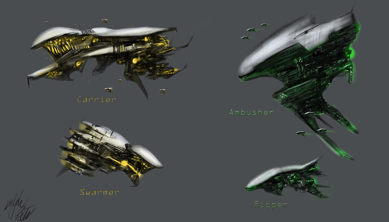 Alien Spaceship Designs By Peterprime Sci Fi Awesomeness