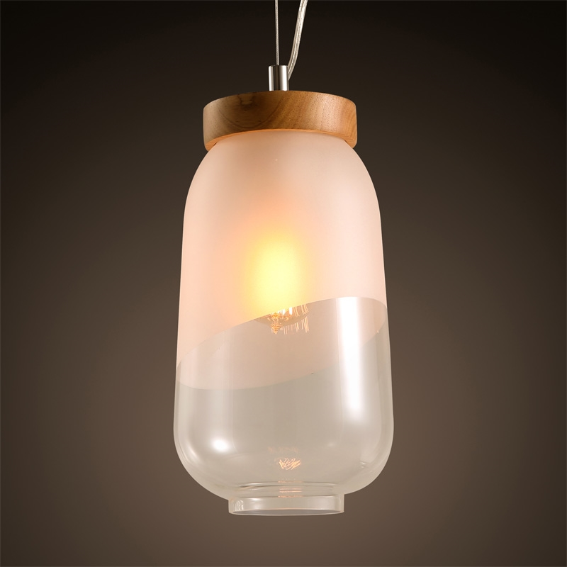 120.00$  Buy here - http://alivst.worldwells.pw/go.php?t=32782141141 - Japanese modern glass lampshade hanging lamp tea shop cafe cafeteria cellar wooden decoration single Chandelier