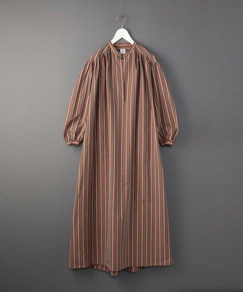 6 ロク の 6 roku stripe long one piece ワンピース ワンピース ブラウン ワンピース レディースファッション ワンピース ファッション