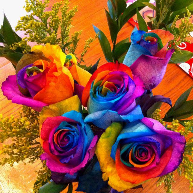 Fiori Hippie.Tie Dye Roses Best Valentines Day Everrr Purple Black