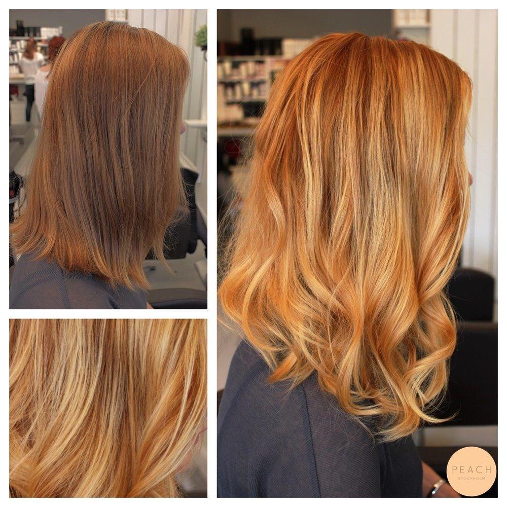ljus kopparblond hårfärg