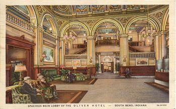 Oliver Hotel Lobby South Bend Indiana 1935 Courtesy Of The Mishawaka Penn Harris
