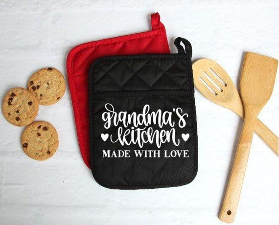 Download Grandma's Kitchen, Made with Love, Custom Pot Holder ...