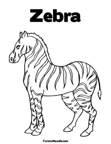 Coloring Sheets Zebra Coloring Pages Animal Coloring Pages Animal Templates