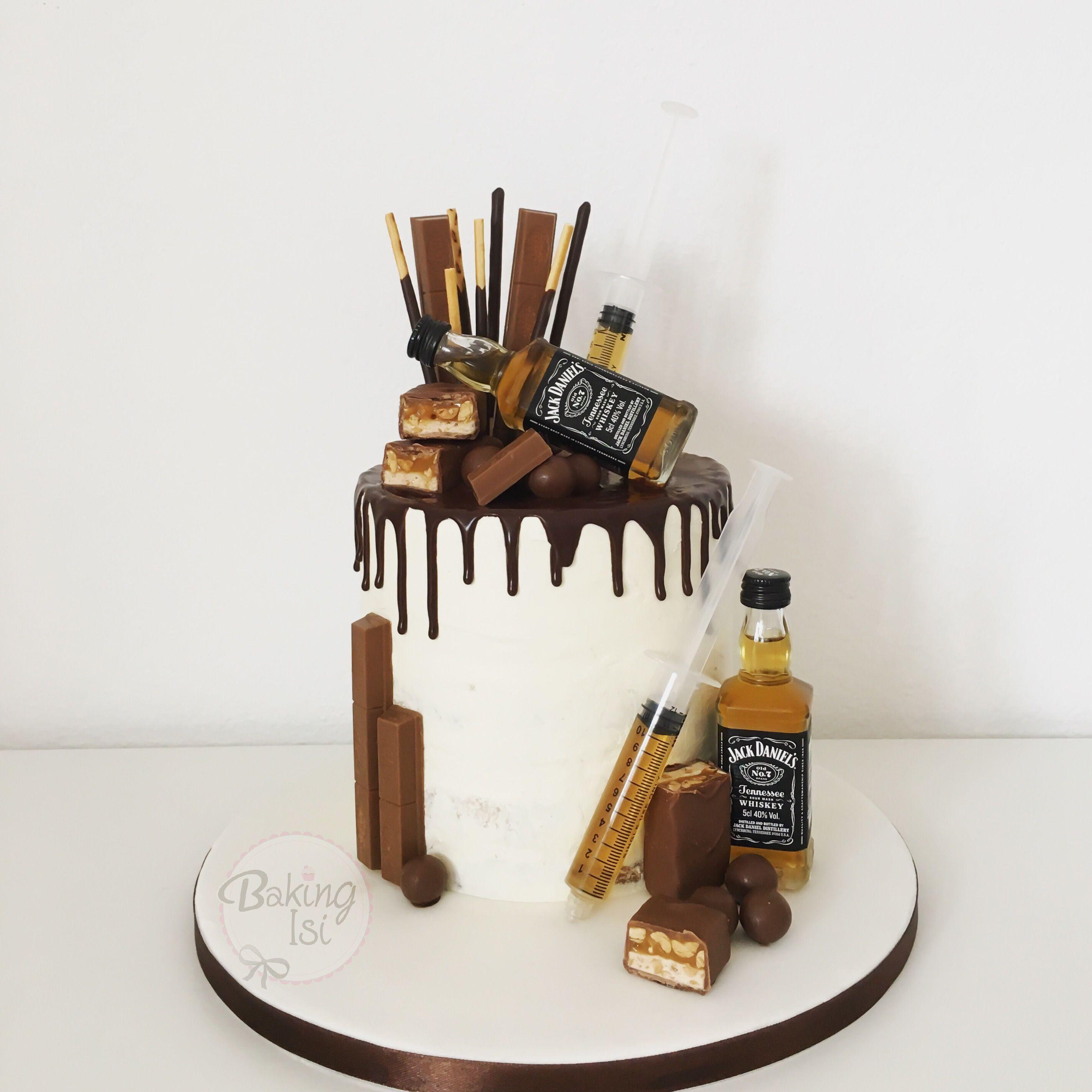 Drip Cake Jack Daniels Chocolate Swiss Meringue