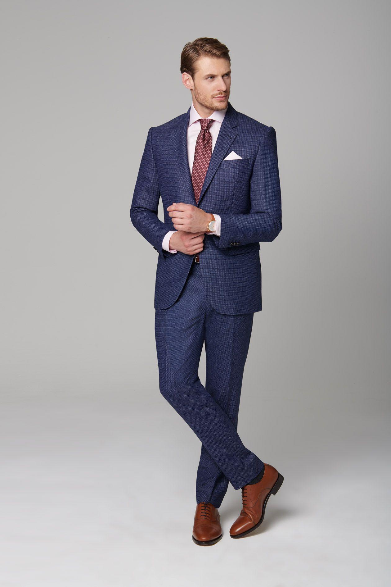 business anzug blau