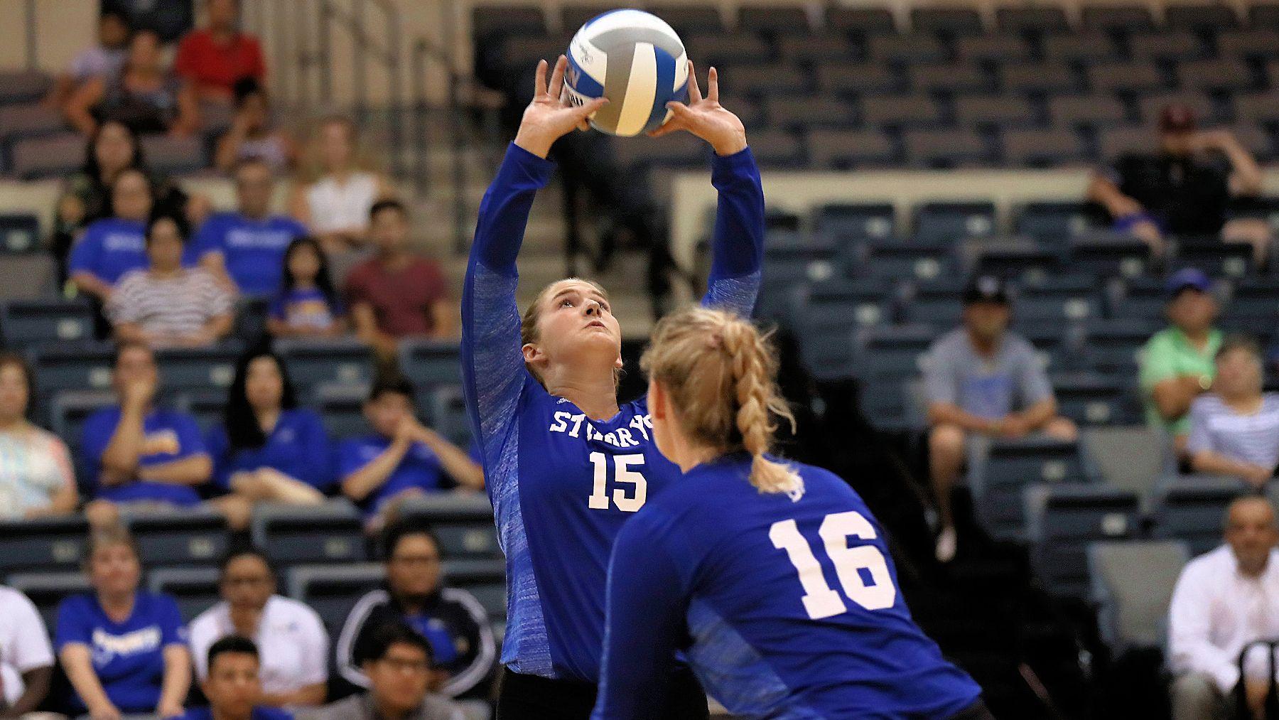 Stmu Volleyball S Win Streak Over Texas A M Int L Dustdevils Athlete Volleyballs Streak
