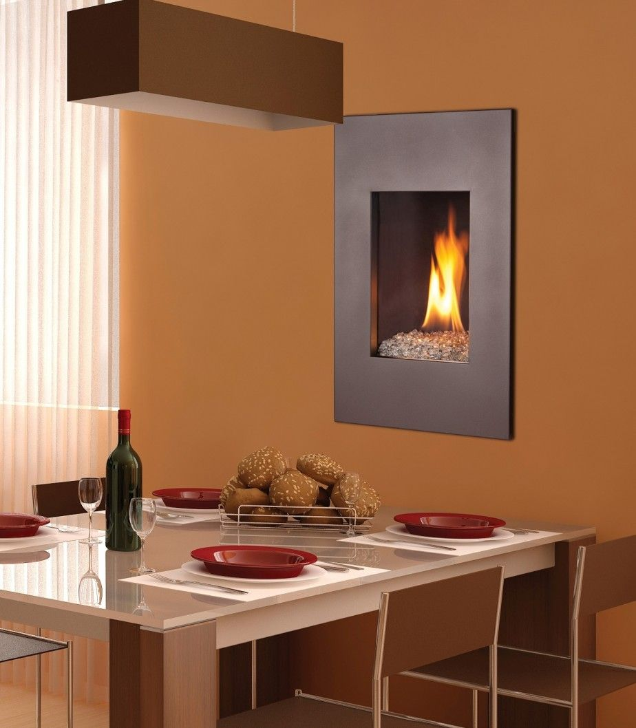 Gas fireplace and Small fireplace