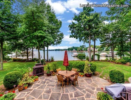 Country french waterfront estate mooresville nc country for Waterfront landscape design