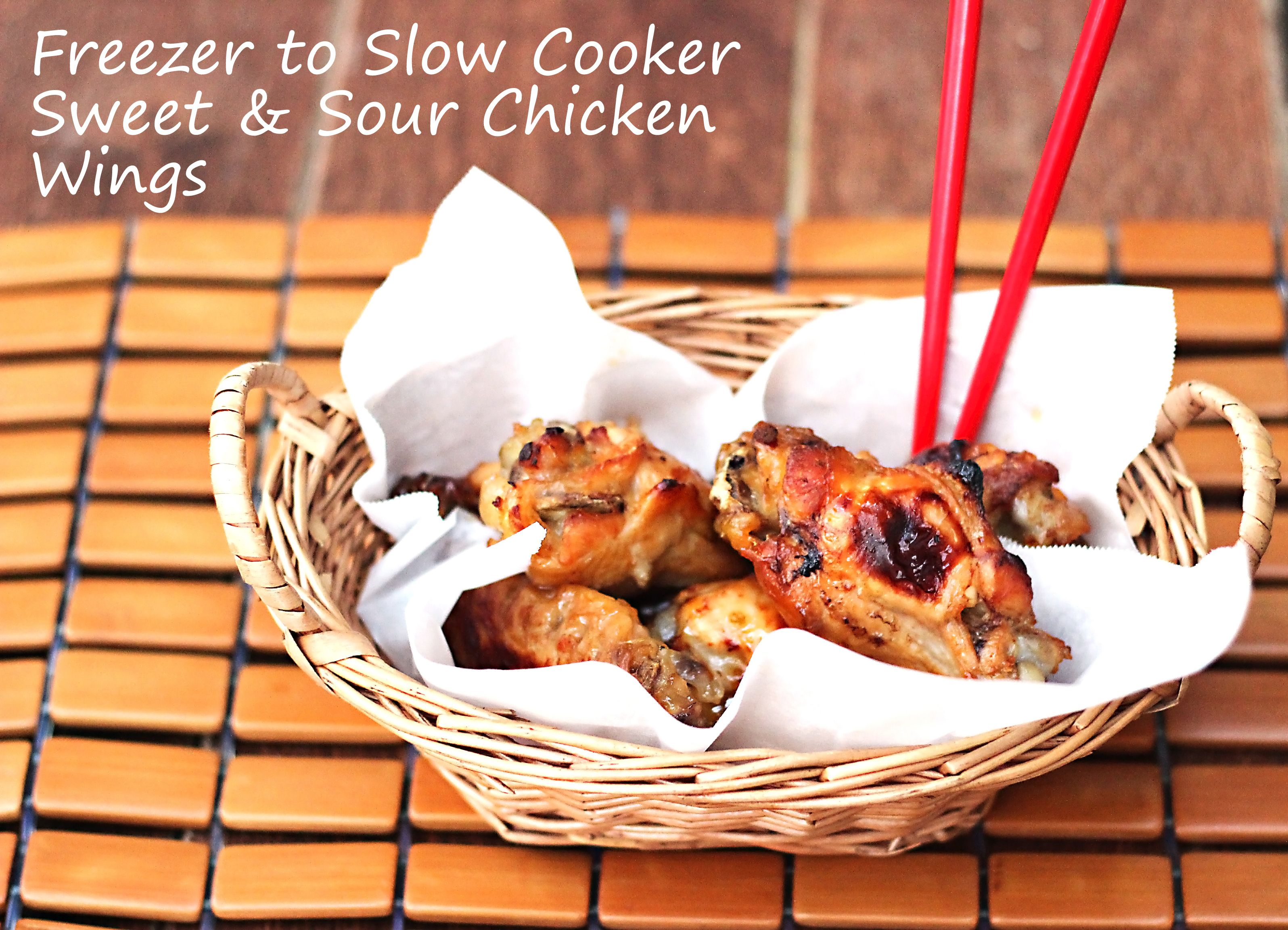 Slow Cooker Sweet and Sour Chicken Wings