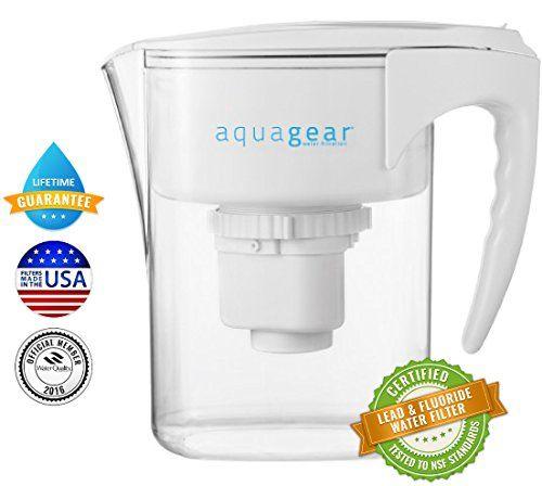aquagear water filter pitcher review   pinterest   water filter ...