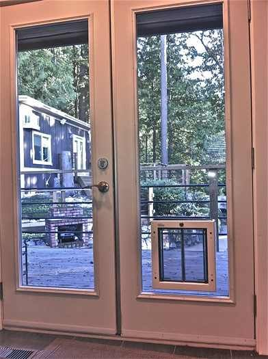 Pin By Kirsten Samantha On The Gurdog Patio Dog Door Glass French Doors French Doors