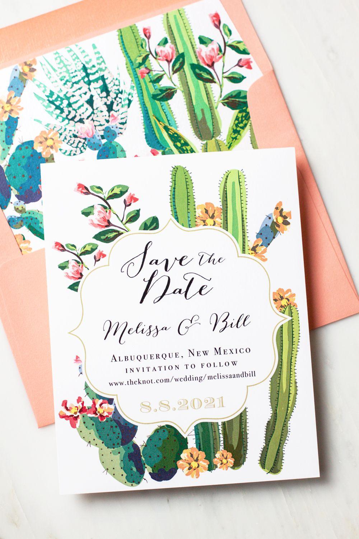 Desert Love Save the Dates | Beacon Lane Invitations | Calligraphy ...