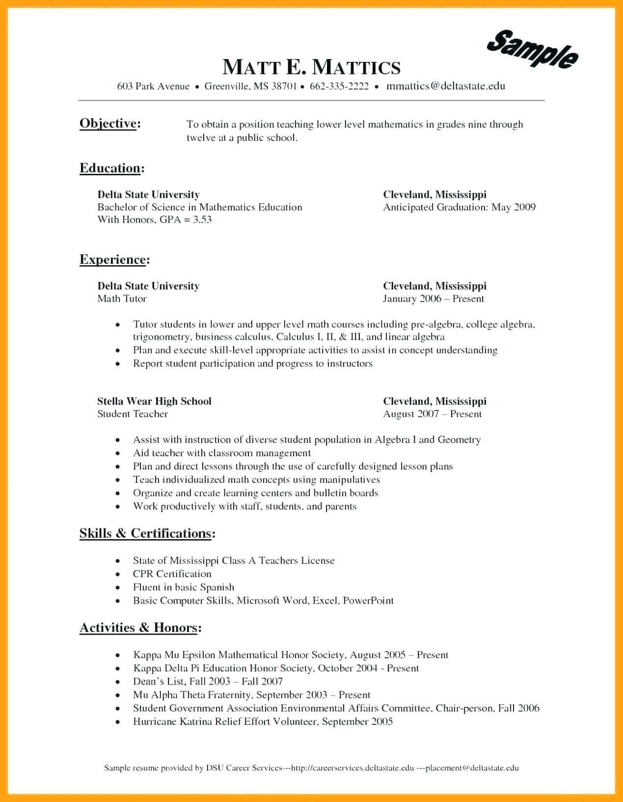 Delta Mu Delta On Resume Best Of Student Template Resume Wovensheet Good Resume Examples Jobs For Teachers Teacher Resume