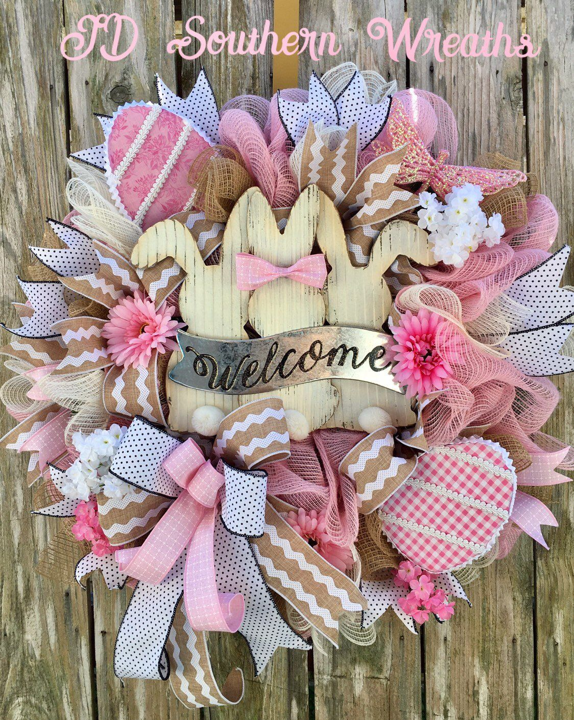 Photo of Easter Wreath, Spring Wreath, Easter Decor, Easter bunny Wreath, Spring Decor, Easter Wreath for Front Door, bunny Decor, Easter Welcome