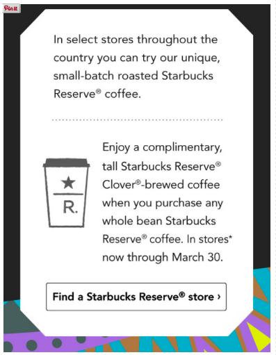 FREE Coffee Starbucks March 2015 Free coffee