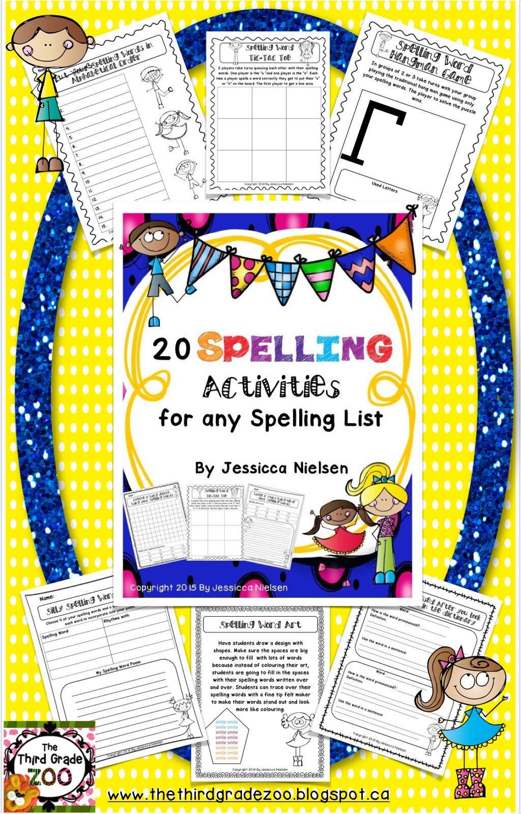 Twenty Spelling Activities For Any Spelling List