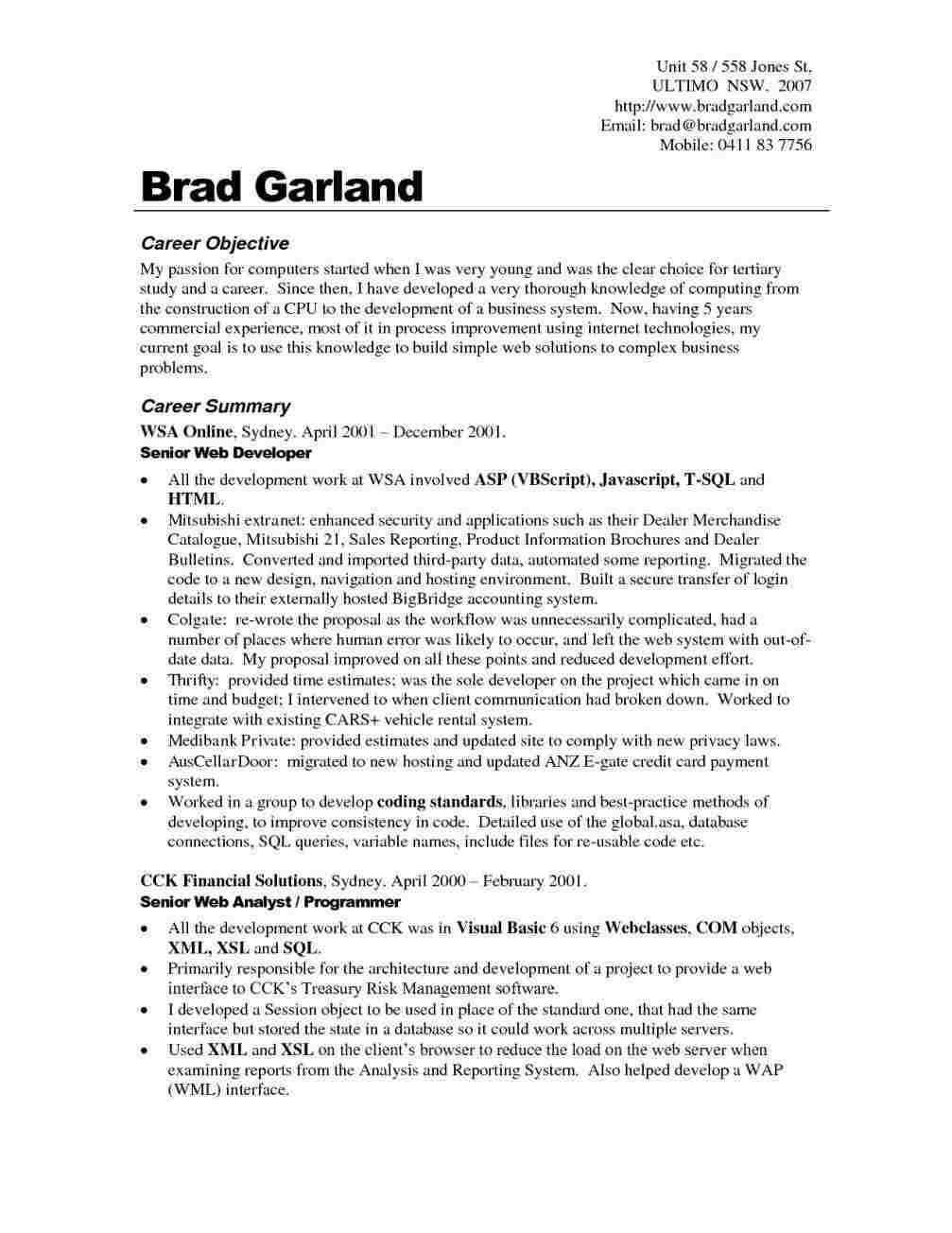 Quora Resume Objective Examples Career Objectives For Resume