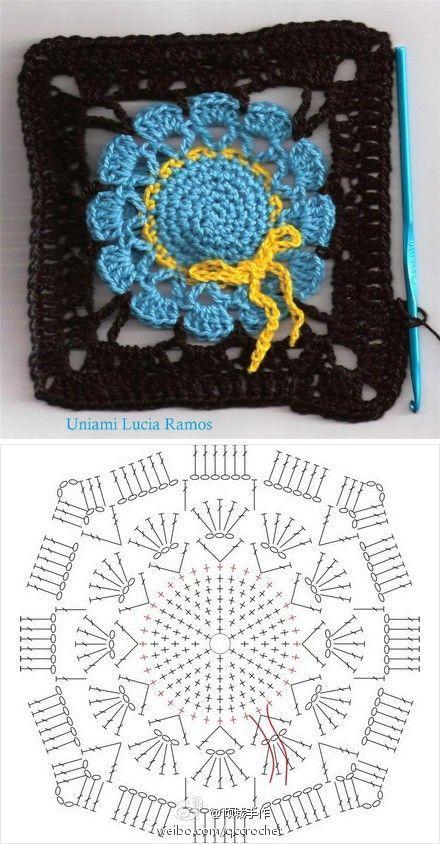 Adorno de sombrero de abuela para una manta LCS con diagrama ...