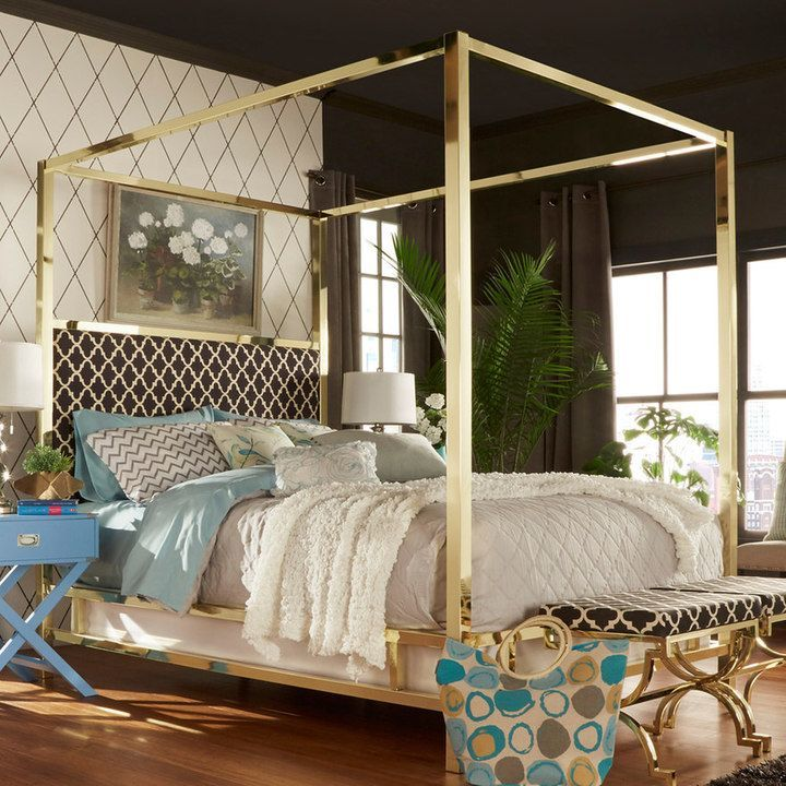 Homevance Barton Hills 83 Canopy Bed Canopy Bed Frame Furniture Bed