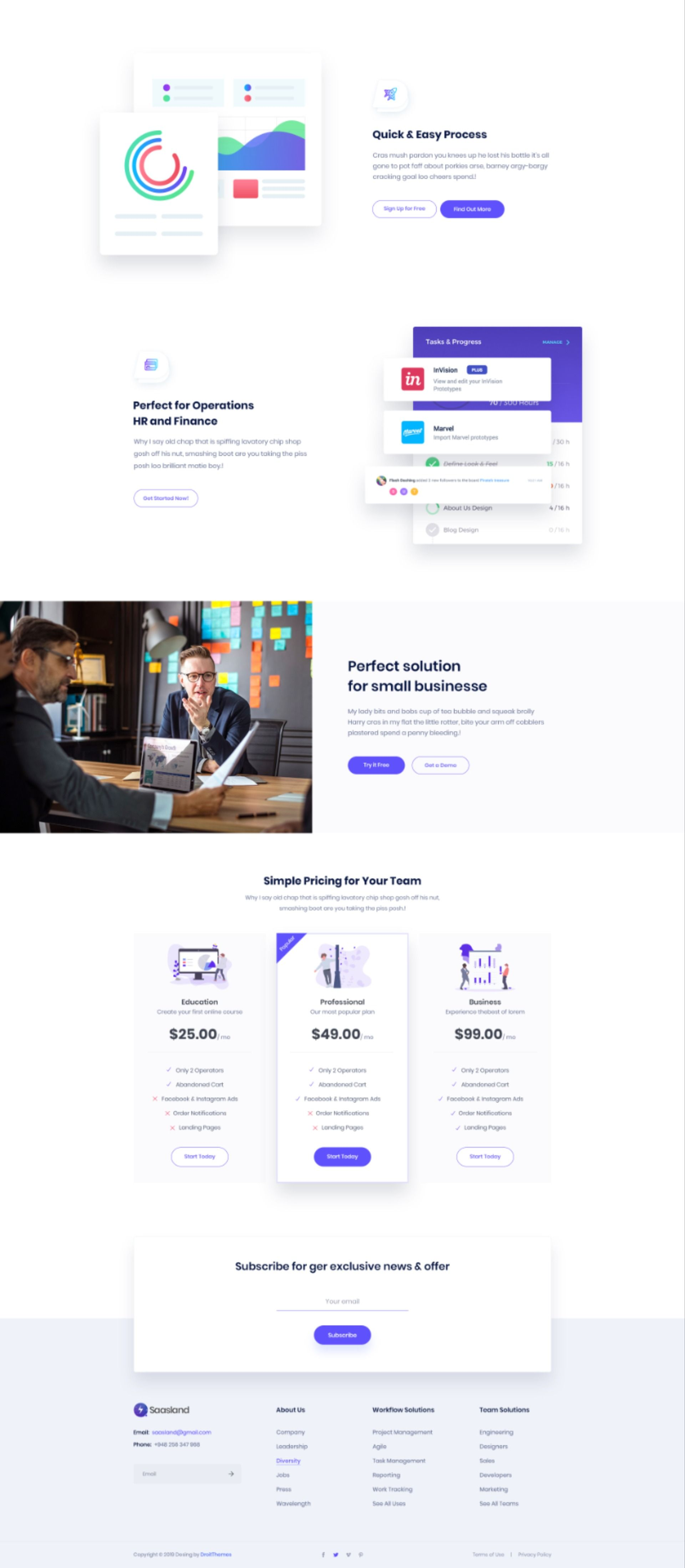 Crysta Startup Agency And Sass Business Website Template 76808 In 2020 Business Website Templates Web Design Quotes Business Website Layout