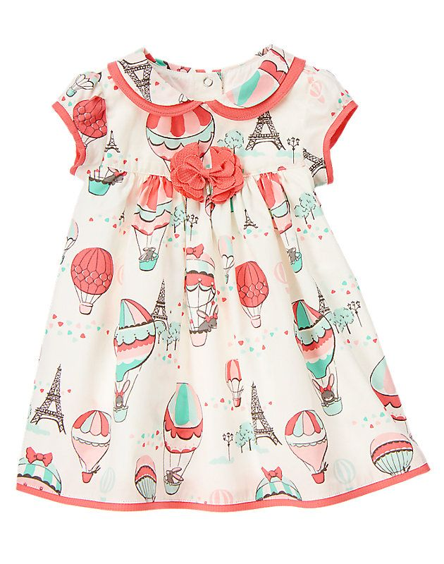 Hot air balloon dress. Love the pattern and innocent style!