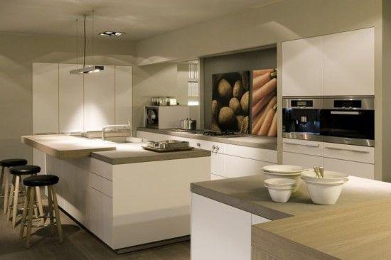Cocinas Modernas Decoradas En Colores Claros Decoracion De Cocina Moderna Decoracion De Cocina Muebles De Cocina
