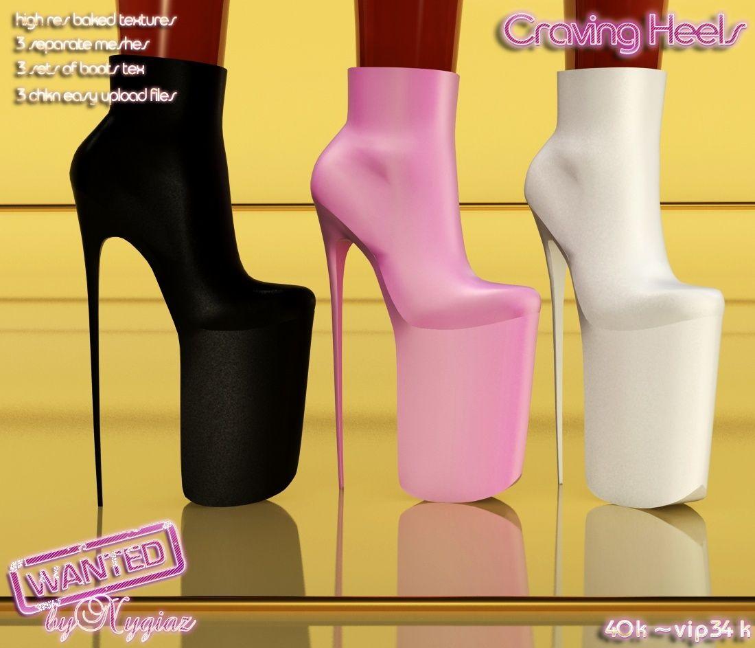 Craving Heels Full Pack IMVU MESH | IMVU <3 | Pinterest