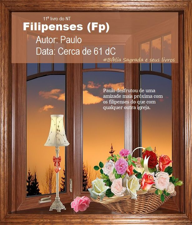 Bíblia Sagrada e seus livros: FILIPENSES - Autor e Data (Fp)