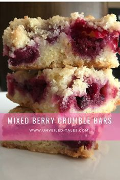 Mixed Berry Crumble Bars - Unveiled-Tales