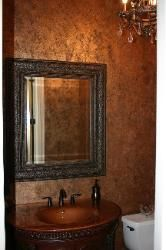 Faux Copper Wall Treatment For Bathroom