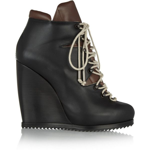 Pierre Hardy Leather Lace Up Boots