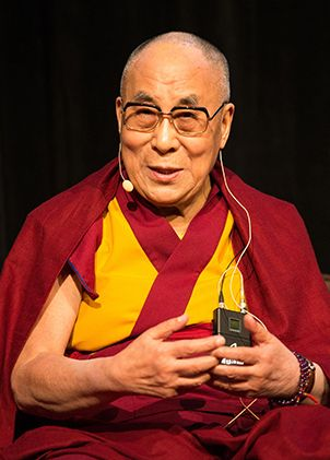 His Holiness the 14th Dalai Lama was the 2015 recipient of the Liberty Metal. He has donated the gift of $100,000 that comes with the award to the Mind & Life Institute for its ongoing work in exploring a scientific understanding of the human mind and its potential, and in building the field of contemplative studies.