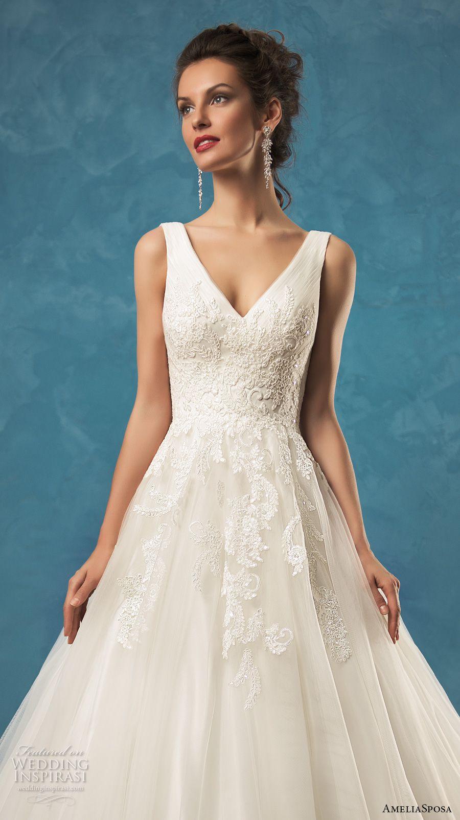 Amelia Sposa 2017 Wedding Dresses   Amelia sposa, Chapel train and ...