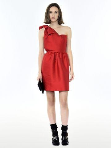 veste laine rouge noire detail cuir the kooples clickndress pinterest rouge ps and the ojays - Veste Colore Femme