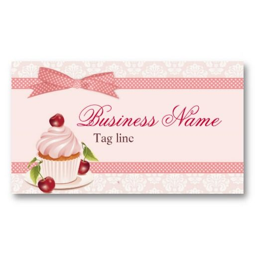 Sweet cupcake business card template cupcake business pinterest sweet cupcake business card template wajeb Images