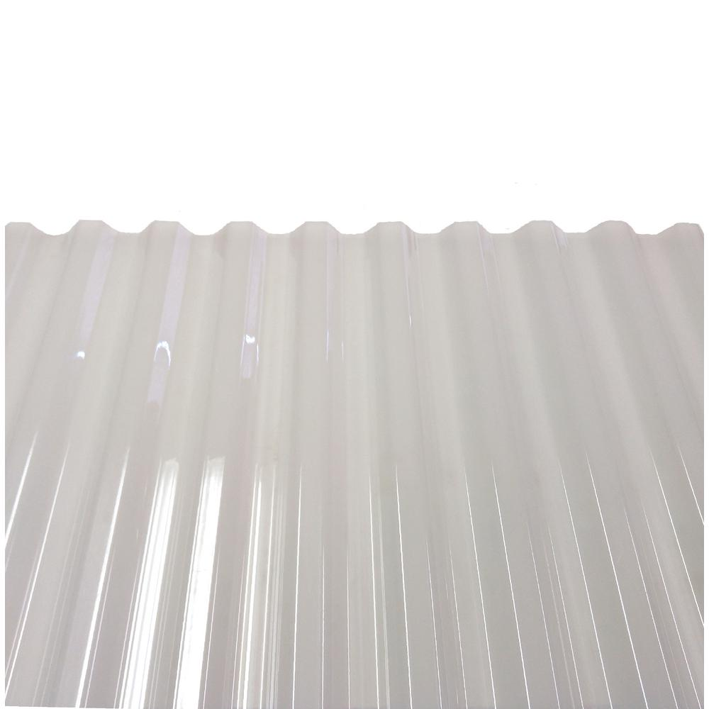 Polycarb 8 Ft Polycarbonate Roof Panel In Translucent White 10 Pack 1413t The Home Depot Roof Panels Polycarbonate Roof Panels Fibreglass Roof