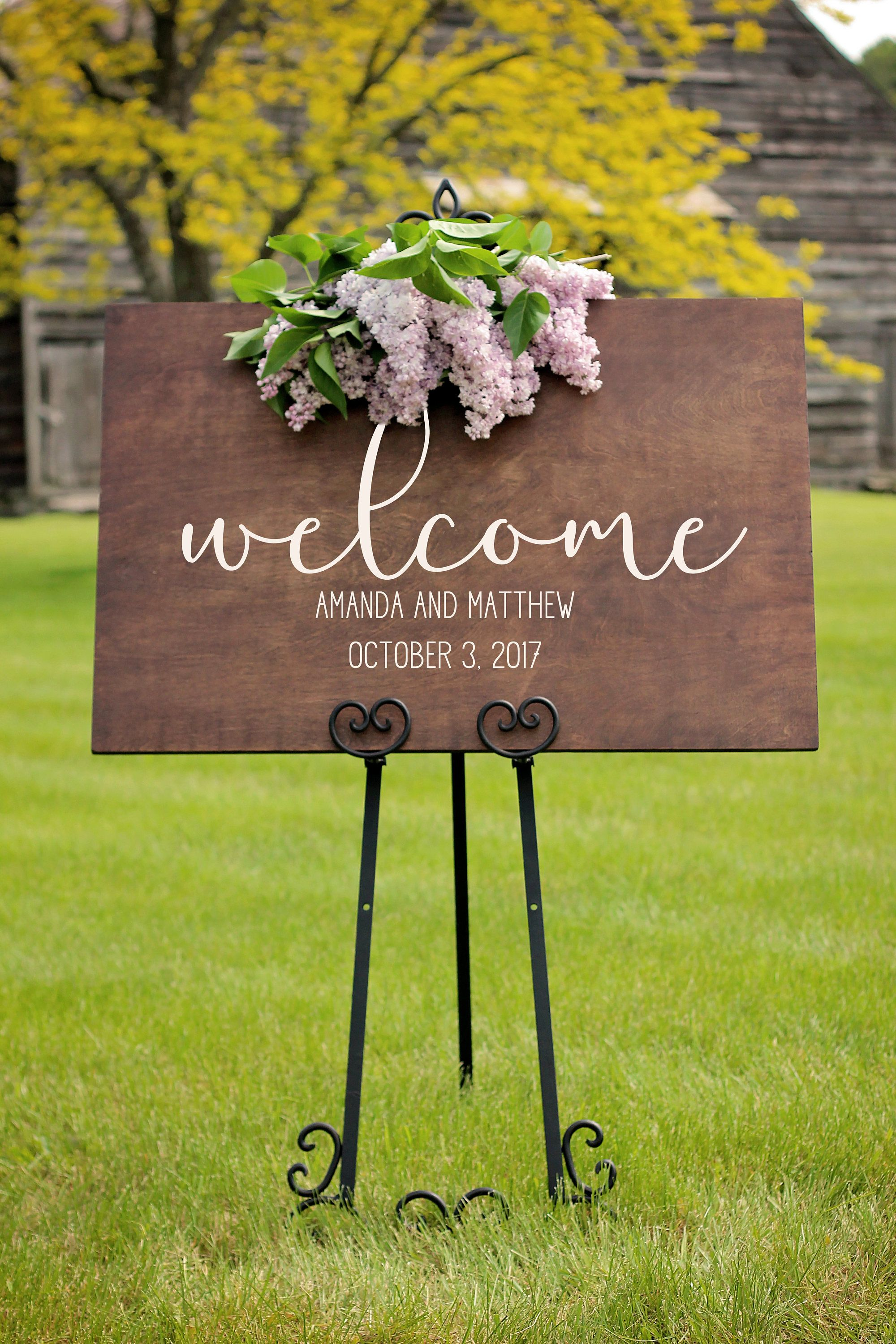 Personalized Wood Wedding Signs Welcome Sign