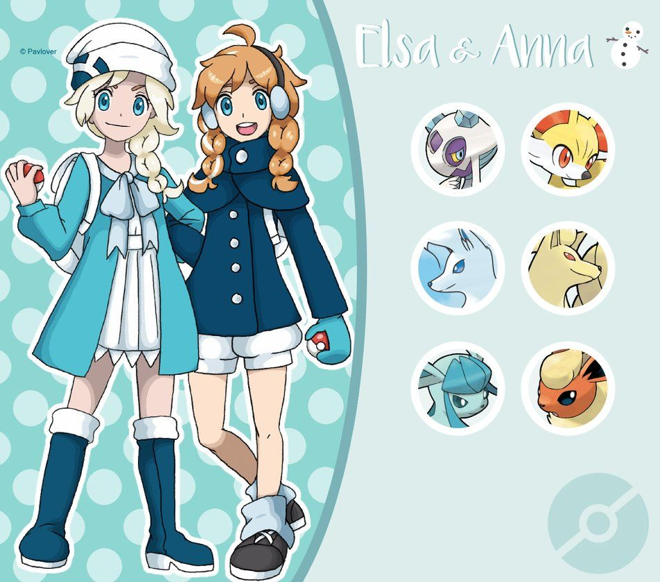 Disney pokemon trainer elsa and anna by pavlover on deviantart