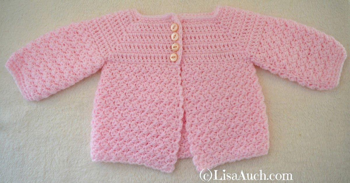 77bb48dde Crochet Baby Cardigan Easy Free Pattern
