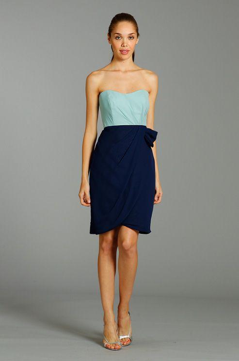 Colorblock bridesmaid's dress from Alvina Valenta, Fall ...