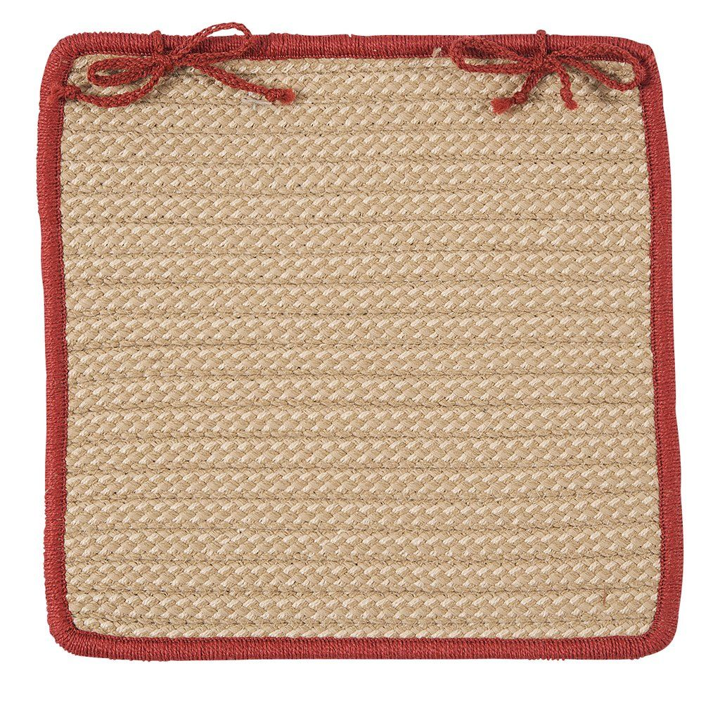 Top Image Braided Square Chair Pads