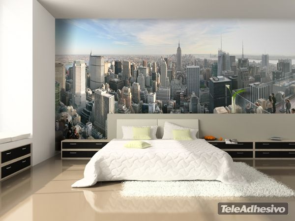 Fotomurales new york city 1 fotomurales pinterest for Fotomurales para recamaras