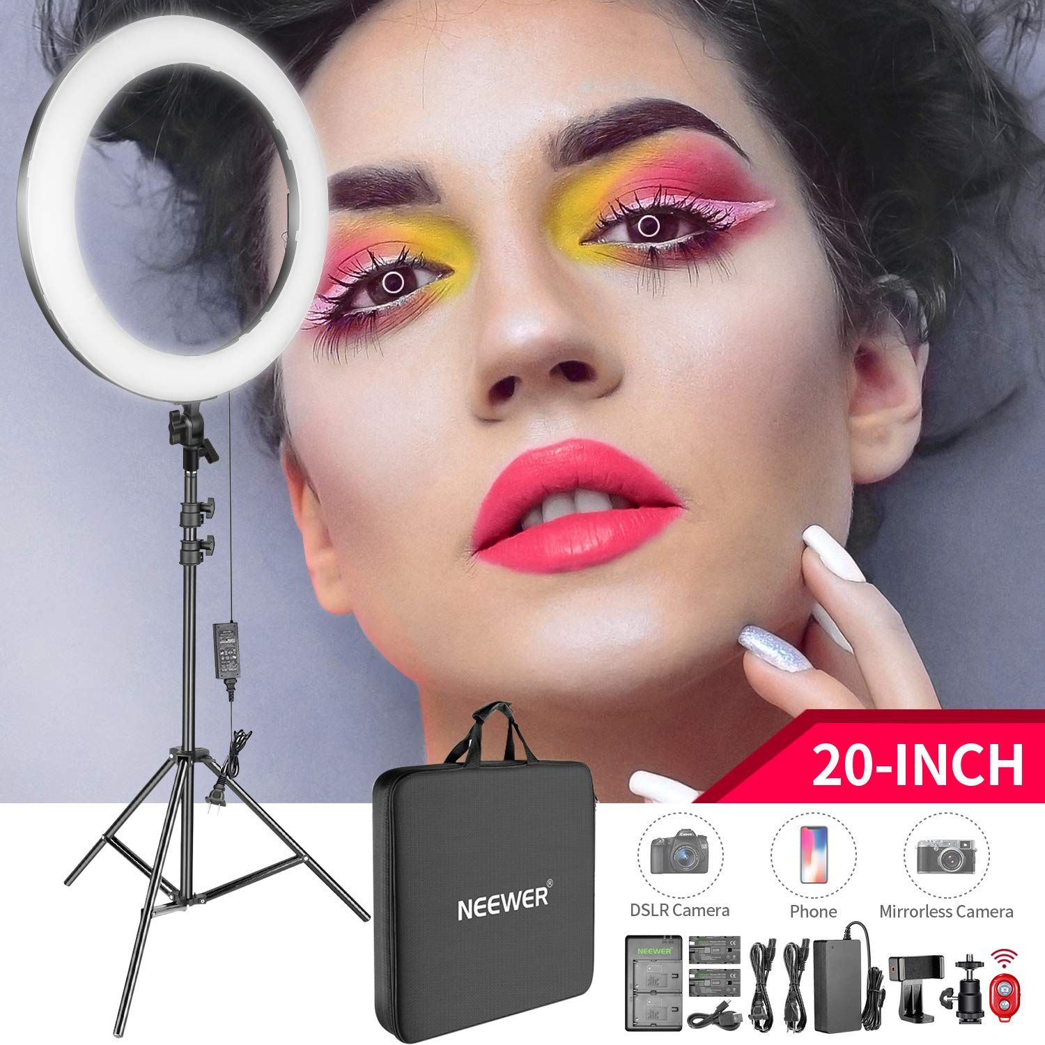 Neewer 20 Inch Led Ring Light Ki Led Ring Light Led Ring Youtube Makeup