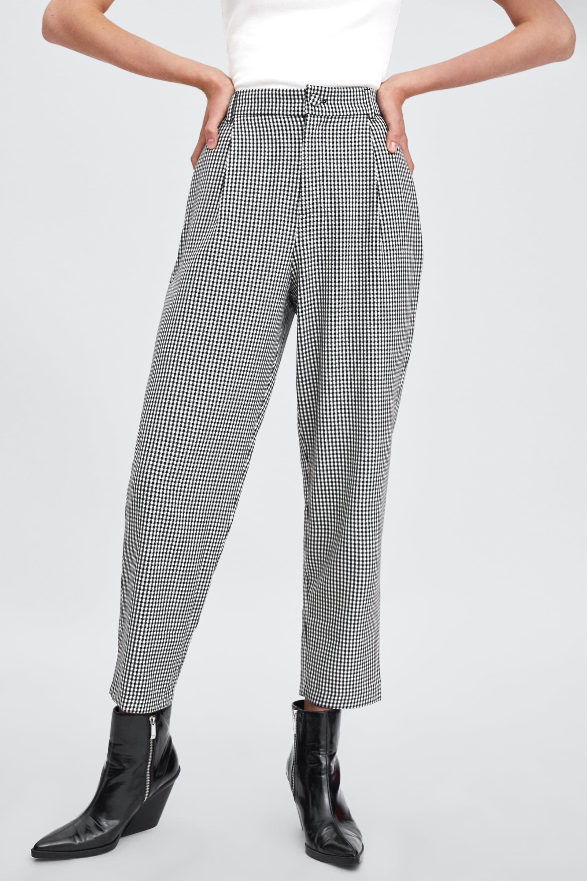 255551336db2 Image 4 of HIGH WAISTED CHINO PANTS from Zara