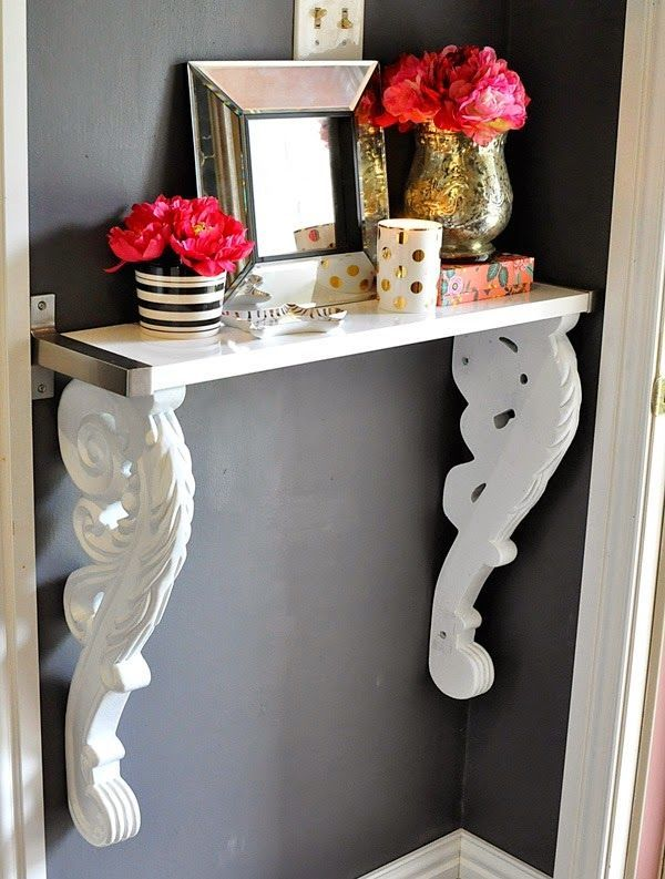 Upcycled diy corbel foyer table diy craft crafts diy crafts do it upcycled diy corbel foyer table diy craft crafts diy crafts do it yourself diy projects diy solutioingenieria Image collections