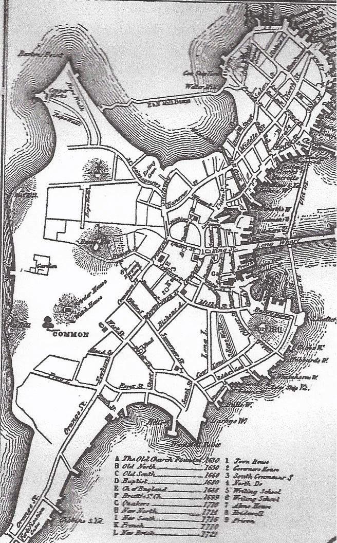 old map boston harbor Map of Boston circa 1722 Boston history