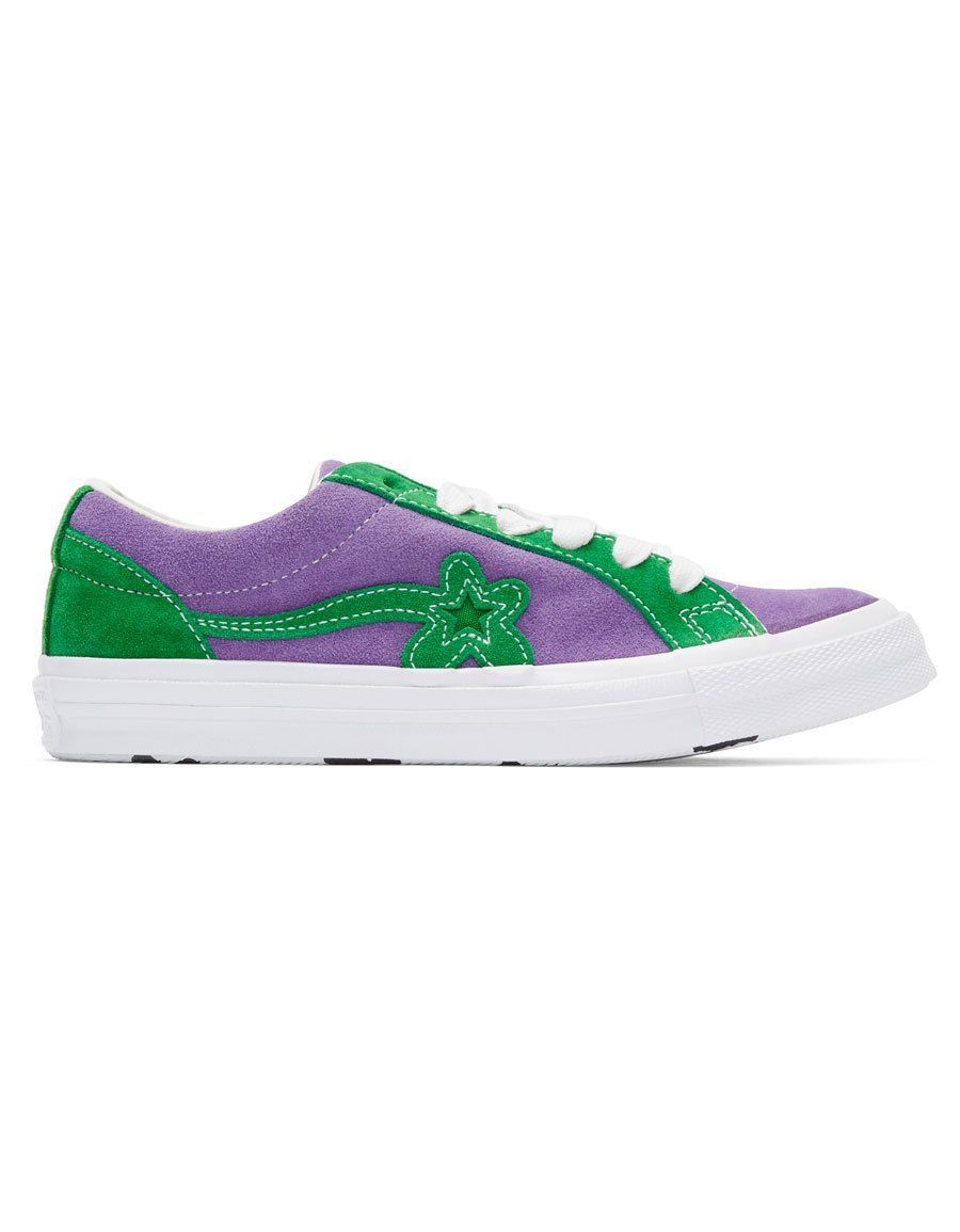 ab946410a35c CONVERSE Purple   Green GOLF le FLEUR  Edition GOLF 6.1 One Star Sneakers ·  VERGLE