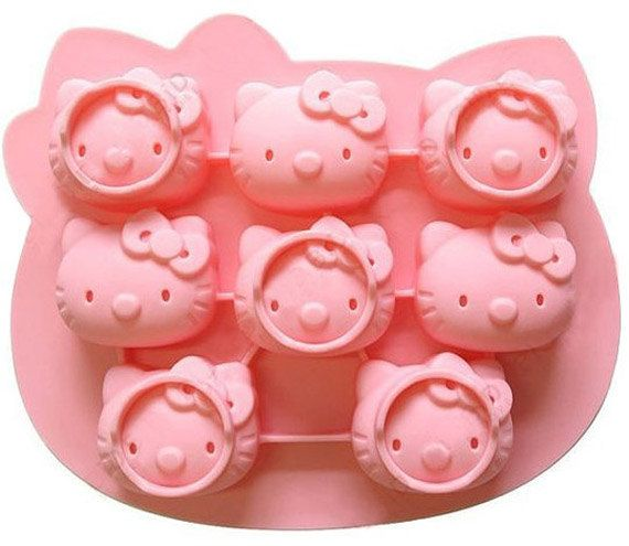 8holes Hello Kitty Cake Mold Mould Soap Mold Silicone Mold Flexible